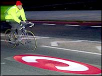 Cyclist in congestion charge zone