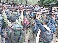 Maoist rebels in camp
