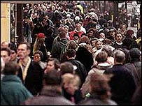 Shoppers on the High Street