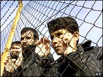 Iraqi refugees at a camp in France