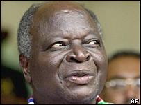 Kenya president Mwai Kibaki