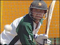 Alistair Campbell in the nets