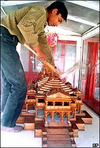 A model of the proposed temple