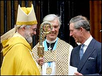 Dr Rowan Williams (l) with the prince
