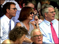 Sir Cliff Richard at the tennis