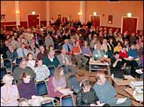 Public consultation meeting in Herne Bay, October 2001