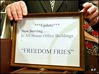 """Freedom fries"" sign at House of Representatives"