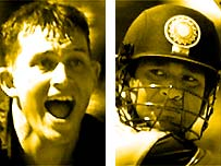 Shane Bond and Sachin Tendulkar