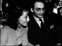 Luise Rainer with first husband Clifford Odets in 1938
