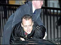 Peter Tatchell is arrested