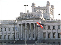 Uruguay parliament building