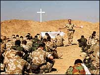 Service in the desert, British Army photo