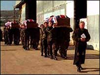 Funeral in the field, British Army photo