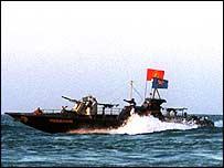 Tamil Tiger boat