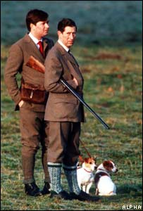 Michael Fawcett and Prince Charles at Sandringham