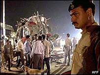Bus bomb blast in December, 2002