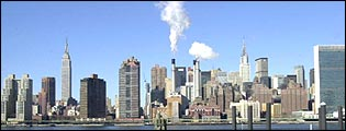 Manhattan skyline from