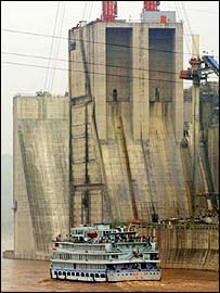 The Three Gorges Dam in China, BBC