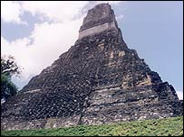 Mayan ruin in Tikal, Guatemala