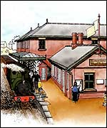 Artist's impression of station redevelopment