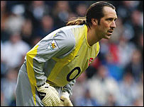 Arsenal keeper David Seaman in action against Newcastle recently