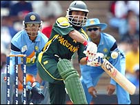 Saeed Anwar in action for Pakistan during the World Cup