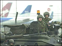Tanks at Heathrow