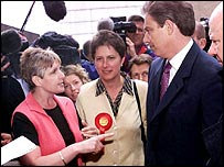 Blair being berated by Sharon Storer