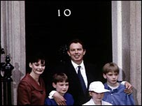 The Blairs enter No 10 in 1997
