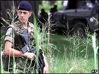French peacekeeper in Ivory Coast