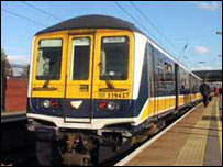 Thameslink train at Bedford Station