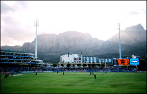 View of the Newlands ground in Cape Town with Table Mountain in the background