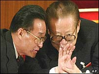 Wu Bangguo and Jiang Zemin