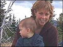 Bridget Riedl-Laing with one of her children, before the accident