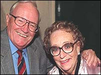 Dame Thora Hird pictured with the late Sir Harry Secombe