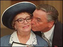 Dame Thora Hird and Bob Monkouse