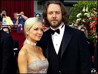 Russell Crowe and Danielle Spencer