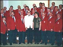 Members of the Worrall Male Voice Choir