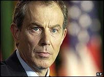 UK Prime Minister Tony Blair