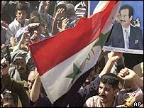 Pro-Saddam rally in Tikrit, Iraq