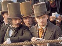 Daniel Day Lewis and Leonardo DiCaprio in Gangs of New York