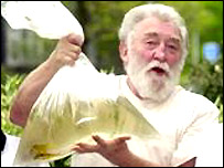 David Bellamy with trout