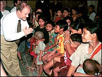 Robin Cook on a foreign visit