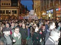 Leipzig protest