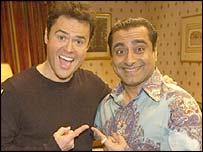 Donny Osmond and Sanjeev Bhaskar