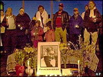 Vigil for Rachel Corrie in Olympia