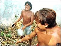 Amazon villagers