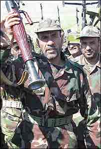 Badr Brigade on parade