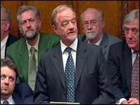 Robin Cook delivers his resignation speech