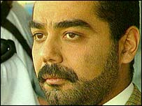 Uday Hussein in 1996